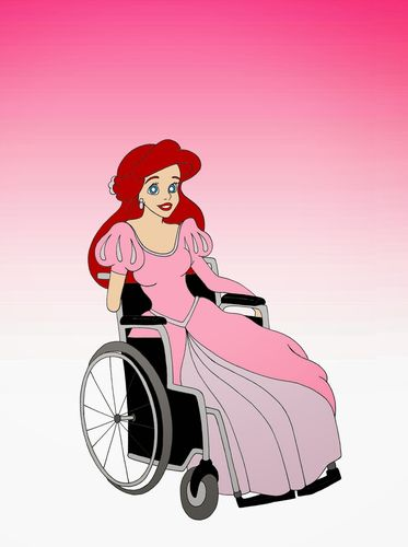 Disneys princesses in wheelchairs: look and fall in love with