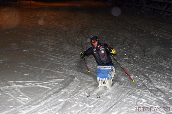 Sochi 2014: The Paralympic athlete from Germany will compete on the skis unpacked on the 3D-printer